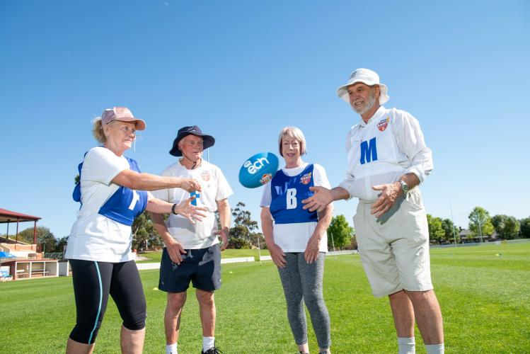 Walking footy program kicks off to keep seniors active - Australian Ageing Agenda